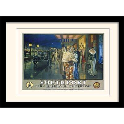 "Art Group Southport ""1"" Mounted Framed Vintage Advertisement"