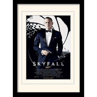 "Art Group James Bond ""Skyfall One Sheet"" Framed Vintage Advertisement"