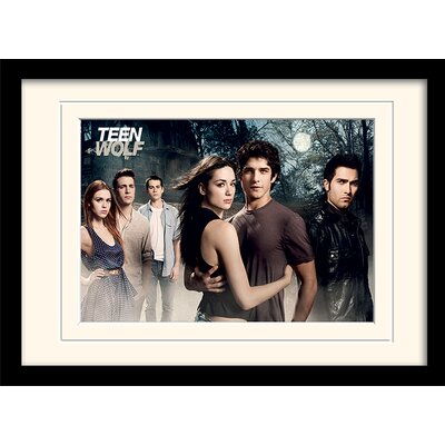 Art Group Teen Wolf Cast Mounted Framed Vintage Advertisement