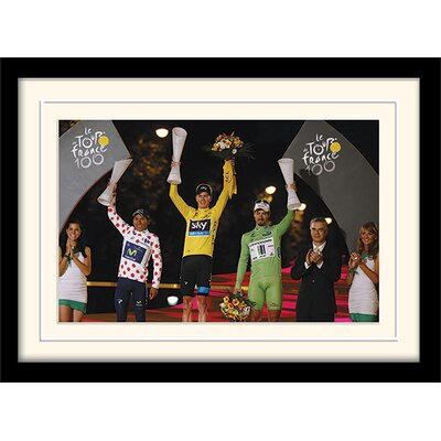 Art Group Le Tour de France Winner's Podium 2013 Mounted Framed Photographic Print