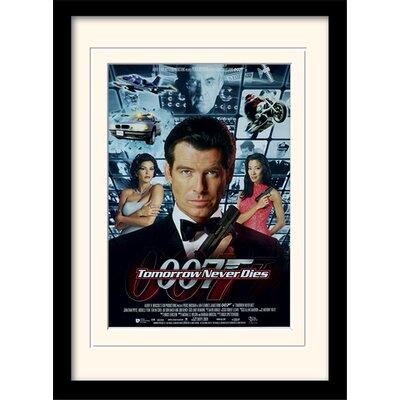 "Art Group James Bond ""Tomorrow Never Dies One-Sheet"" Framed Vintage Advertisement"