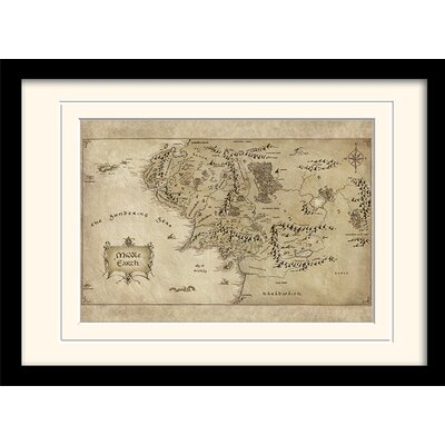 Art Group Middle Earth Map - The Hobbit Framed Graphic Art