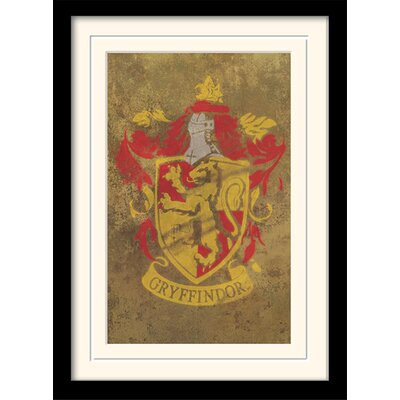 Art Group Harry Potter Gryffindor Crest Framed Graphic Art