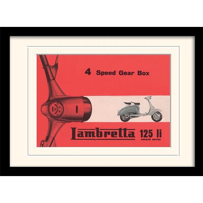 "Art Group Lambretta ""Li 4 Speed Gear Box"" Framed Vintage Advertisement"