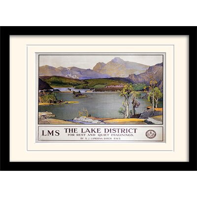 Art Group The Lake District Mounted Framed Vintage Advertisement