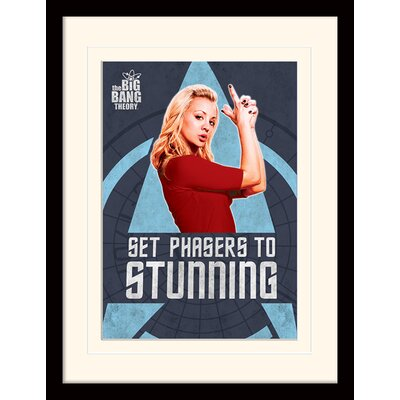 Art Group Phasers - The Big Bang Theory Framed Vintage Advertisement