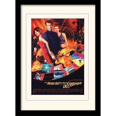 "Art Group James Bond ""The World Is Not Enough One-Sheet"" Framed Vintage Advertisement"