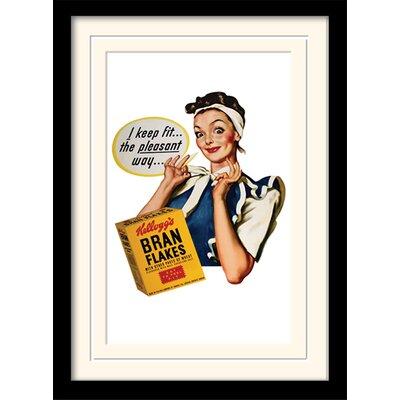 Art Group I Keep Fit - Vintage Kelloggs Framed Vintage Advertisement