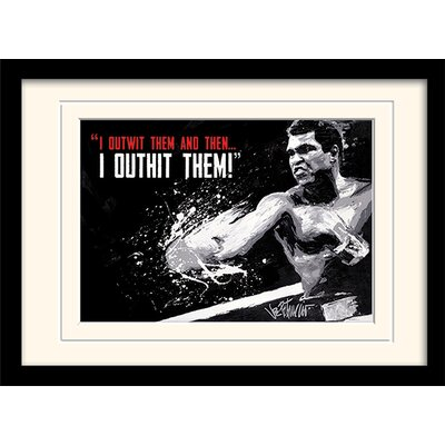 Art Group Muhammad Ali Outwit Outhit Framed Vintage Advertisement
