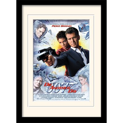 """Art Group James Bond """"Die Another Day One-Sheet"""" Framed Vintage Advertisement"""