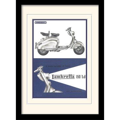 "Art Group Lambretta ""150 LD"" Framed Vintage Advertisement"