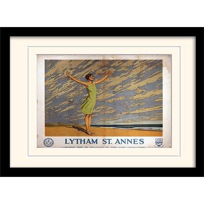 "Art Group Lytham St Annes ""1"" Mounted Framed Vintage Advertisement"