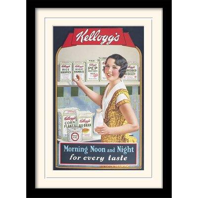 Art Group Morning Noon and Night - Vintage Kelloggs Framed Vintage Advertisement
