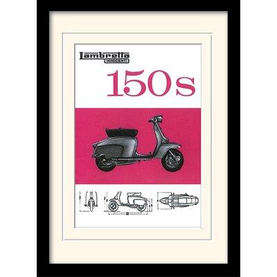 "Art Group Lambretta ""150s""  Framed Vintage Advertisement"