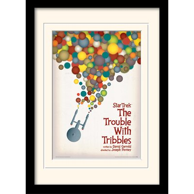 Art Group The Trouble With Tribbles by Star Trek Mounted Framed Vintage Advertisement