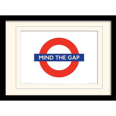Art Group London Underground Mind The Gap Mounted Framed Graphic Art