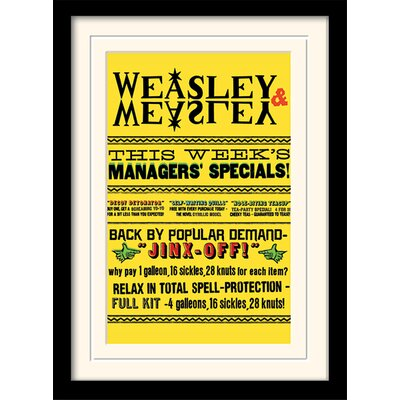 Art Group Harry Potter Weasley and Weasley Specials Framed Vintage Advertisement