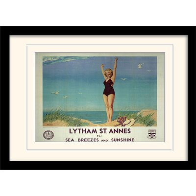 "Art Group Lytham St Annes ""2"" Mounted Framed Vintage Advertisement"