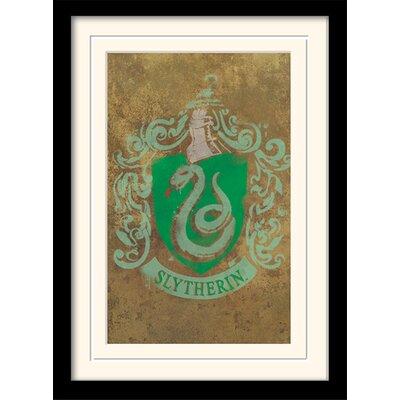 Art Group Harry Potter Slytherin Crest Framed Graphic Art