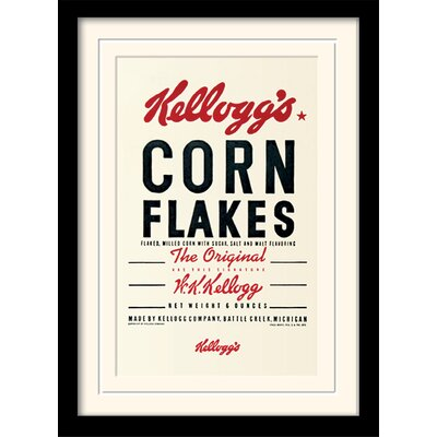 Art Group Corn Flakes - Vintage Kelloggs Textual Mounted Framed Vintage Advertisement