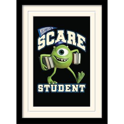 Art Group Monsters University Scare Student Framed Vintage Advertisement