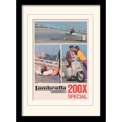 "Art Group Lambretta ""200 SX"" Framed Vintage Advertisement"
