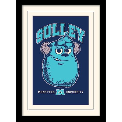 Art Group Monsters University Sulley Framed Vintage Advertisement