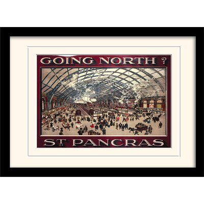 Art Group St Pancras Mounted Framed Vintage Advertisement