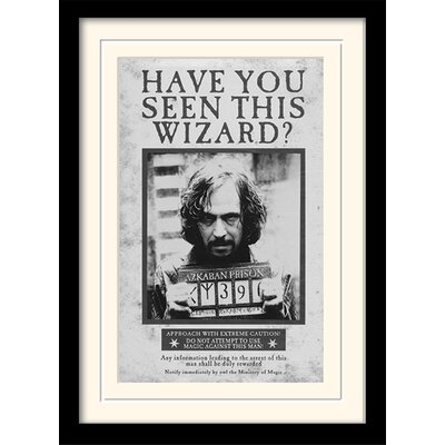 Art Group Harry Potter Sirius - Wanted Framed Vintage Advertisement