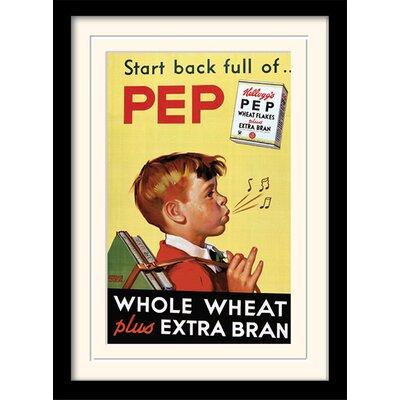 Art Group Start Back Full of Pep - Vintage Kelloggs Framed Vintage Advertisement