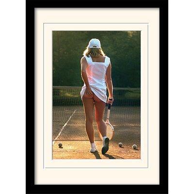 Art Group Tennis Girl Mounted Framed Photographic Print
