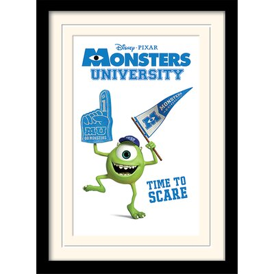 Art Group Monsters University Time to Scare Framed Vintage Advertisement