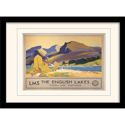 Art Group The English Lake Framed Vintage Advertisement