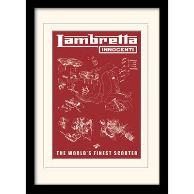 "Art Group Lambretta ""Worlds Finest Scooter"" Framed Vintage Advertisement"