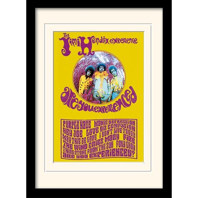 """Art Group Jimi Hendrix """"Are You Experienced?"""" Framed Vintage Advertisement"""