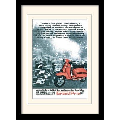 "Art Group Lambretta ""Grand Prix"" Framed Vintage Advertisement"