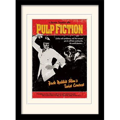 Art Group Pulp Fiction Twist Contest Framed Vintage Advertisement