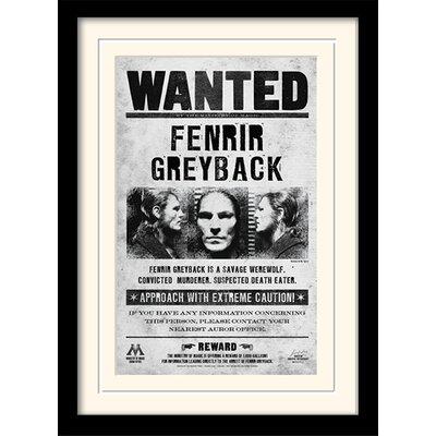 Art Group Harry Potter Fenrir Wanted Framed Vintage Advertisement