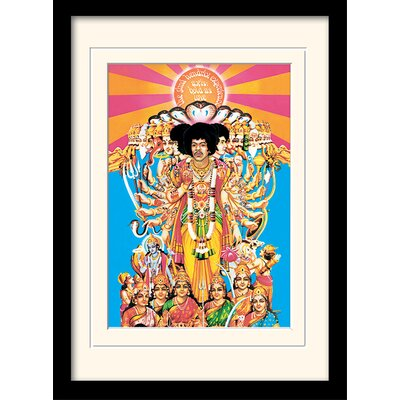 """Art Group Jimi Hendrix """"Axis Bold As Love"""" Framed Vintage Advertisement"""