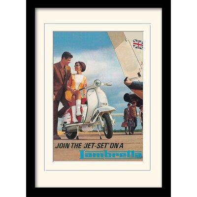 "Art Group Lambretta ""Jet Set"" Framed Vintage Advertisement"