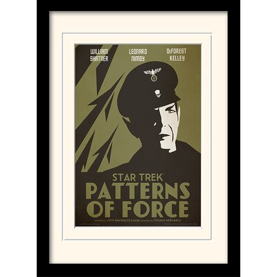 Art Group Patterns Of Force by Star Trek Mounted Framed Vintage Advertisement