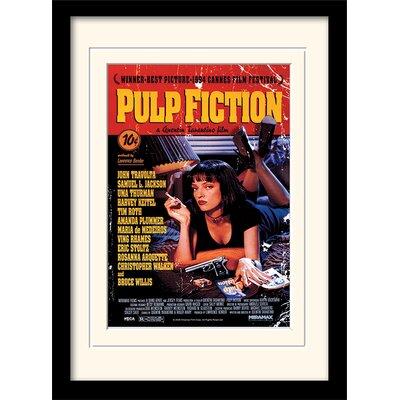 Art Group Pulp Fiction Uma on Bed Framed Vintage Advertisement