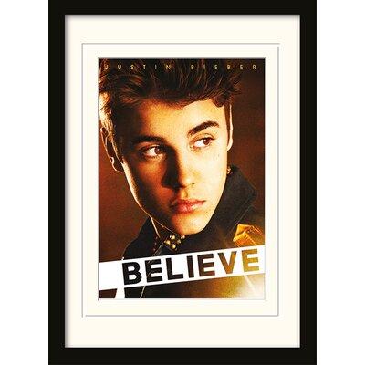 "Art Group Justin Bieber ""Believe"" Framed Graphic Art"