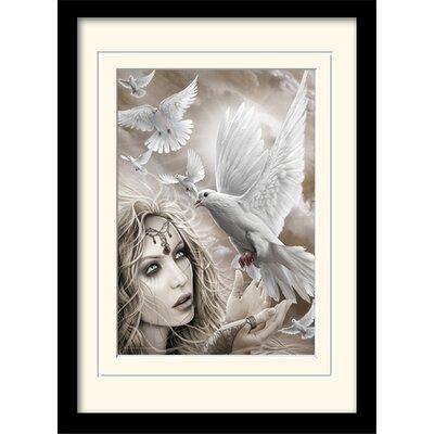 Art Group Spiral Doves of Peacel Mounted Framed Graphic Art