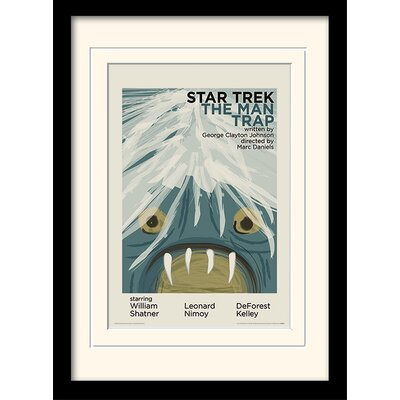 Art Group The Man Trap by Star Trek Mounted Framed Vintage Advertisement