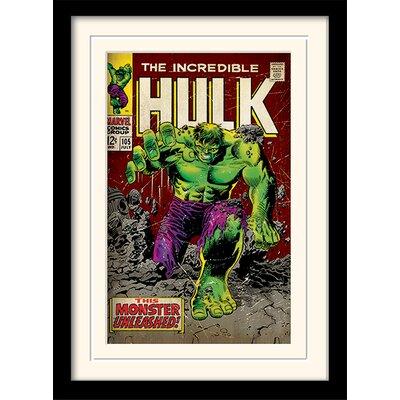 """Art Group Incredible Hulk """"Monster Unleashed"""" Framed Vintage Advertisement"""