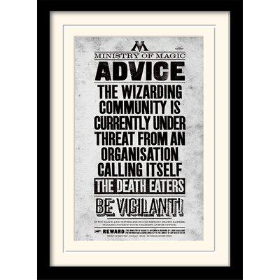 Art Group Harry Potter Be Vigilant Framed Typography