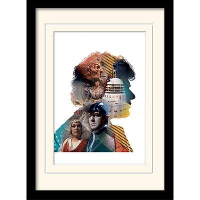 Art Group Doctor Who Colin Baker Framed Vintage Advertisement