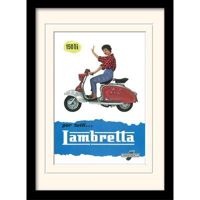 "Art Group Lambretta ""150 LI"" Framed Vintage Advertisement"