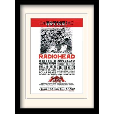 Art Group Radiohead Fear Framed Vintage Advertisement